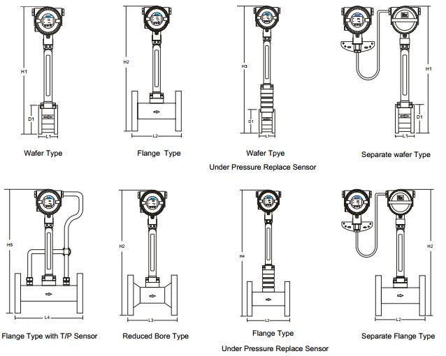 Kiểu lắp đặt đồng hồ đo lưu lượng hơi AVF7000