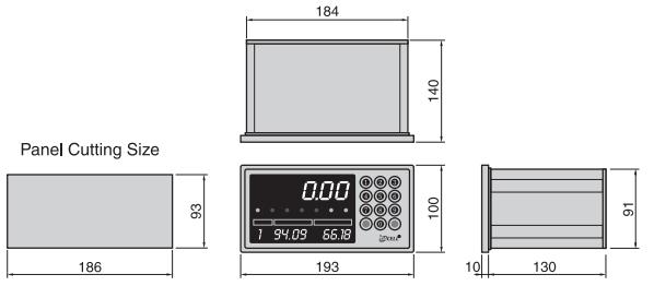 Kích thước đầu cân loadcell DN520, Dacell
